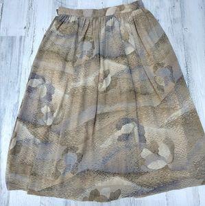 Vintage 70s Abstract Print Fall Highwaist Skirt